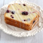 Low Fat Blueberry Pound Cake with Lemon Glaze