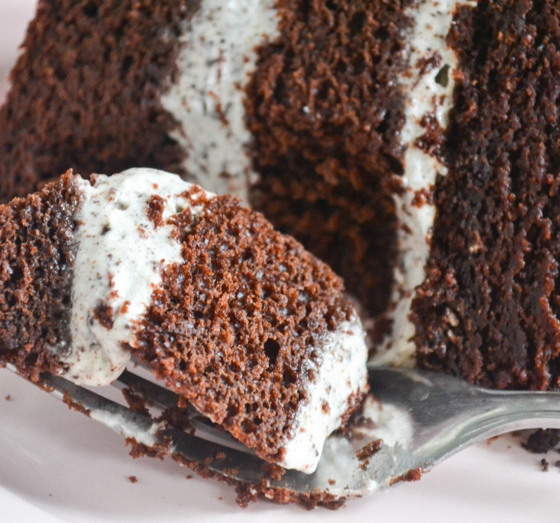 Chocolate Cake with Cookies and Cream Filling