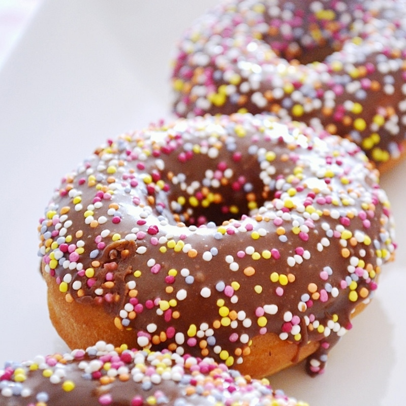 Chocolate Glazed Spiced Cake Doughnut