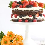 Chocolate Cake with Mascarpone Cream & Berries
