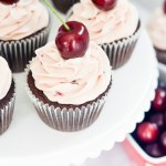 Devil's Food Cupcakes with Cherry Buttercream