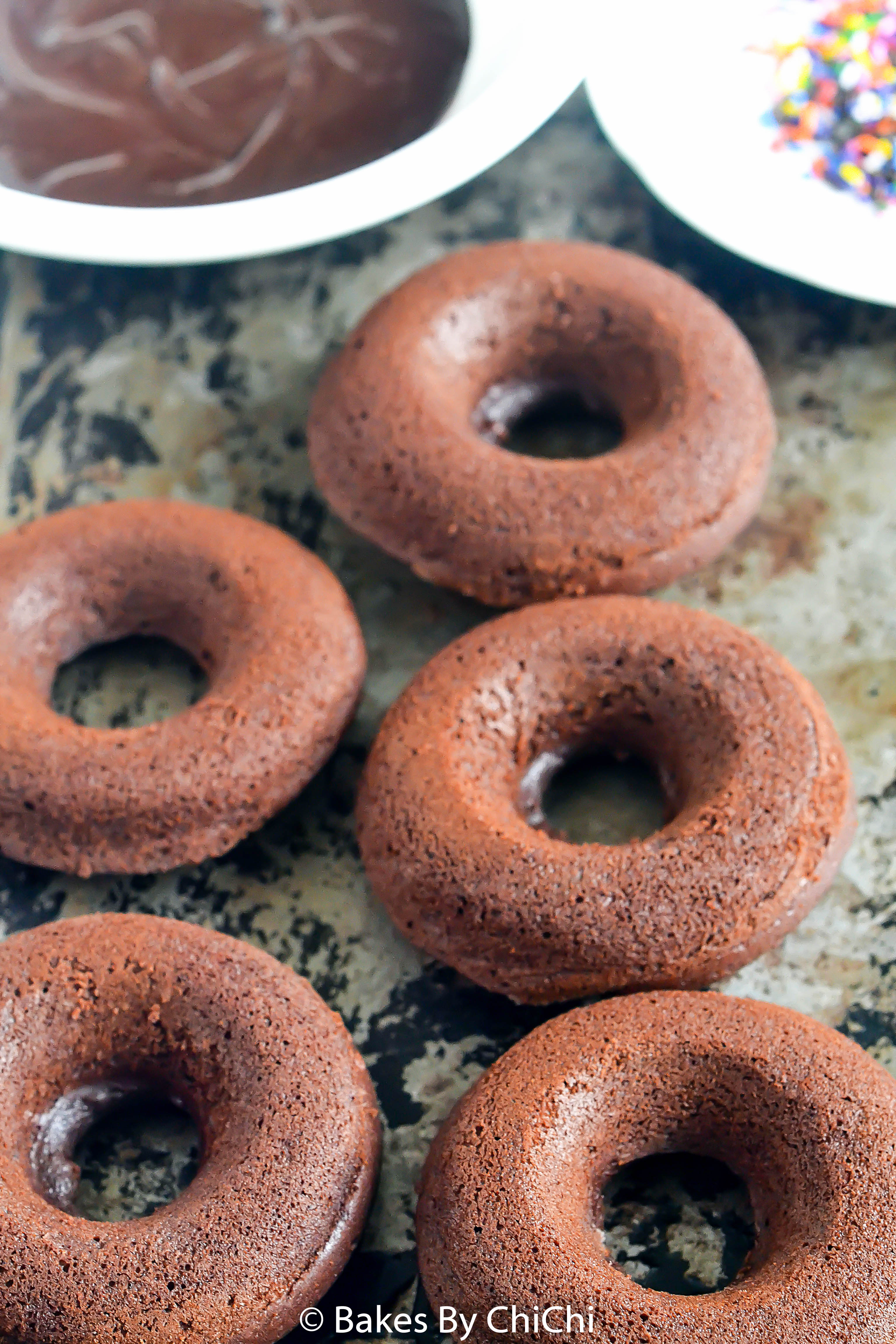 Baked Plain Cake Doughnuts