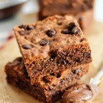 Gooey Nutella Cookie Bars