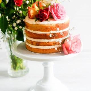 Naked Floral Vanilla Buttermilk Cake