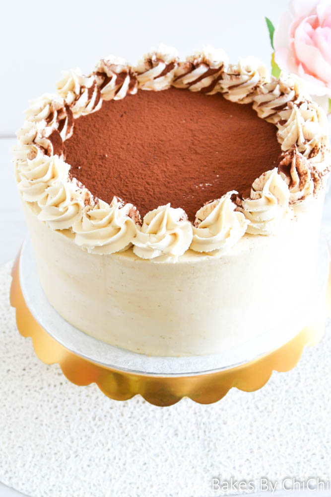 Tiramisu Cake with Espresso Buttercream Bakes by Chichi