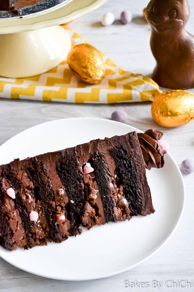 Easter Egg Chocolate Fudge Cake
