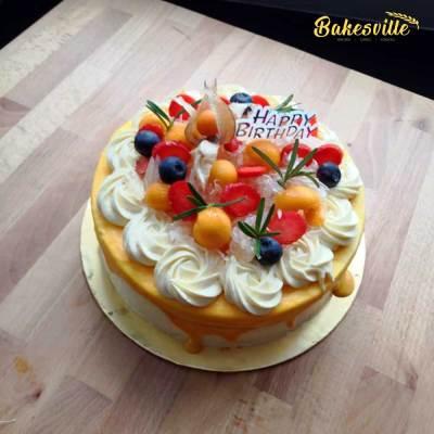 Pomelo Passion Fruit Cake