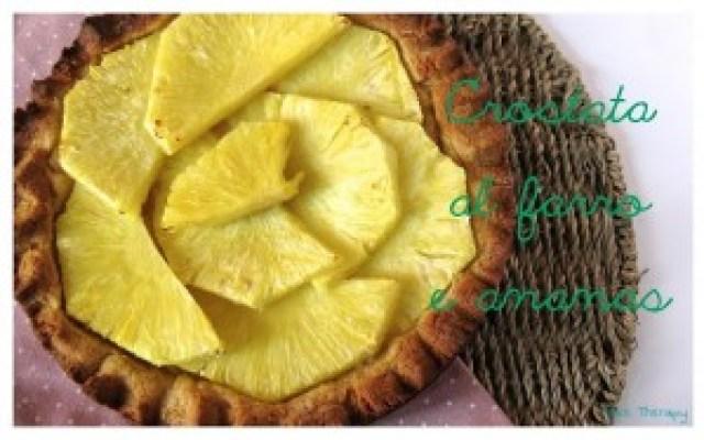Crostata al farro e ananas