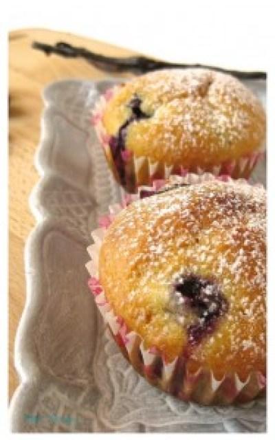 Muffin mirtilli e vaniglia - senza lattosio