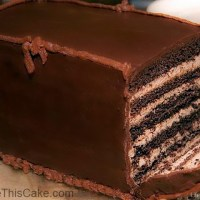 Princess Kate Cake: Vintage 6-layer Chocolate Mocha Cake with Chocolate Ganache