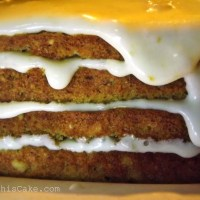 Elegant Frugal - Orange Almond Breadcrumb Cake and Cookies with Orange Custard Icing