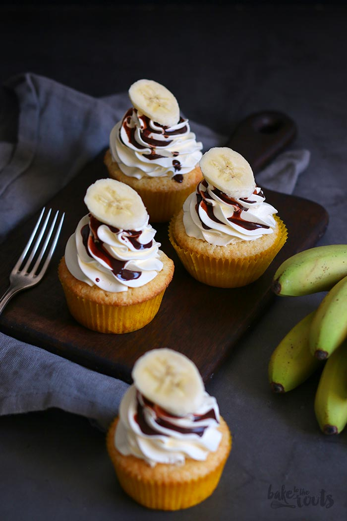 Banana Cupcakes with Swiss Meringue Buttercream | Bake to the roots