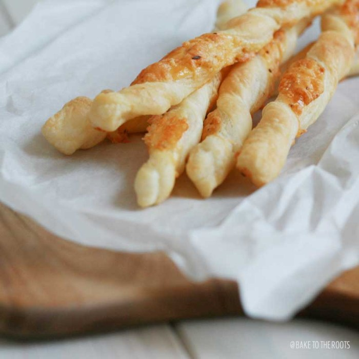 Puff Pastry Cheese Sticks | Bake to the roots