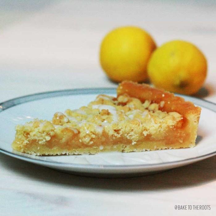 Lemon Streusel Tarte | Bake to the roots