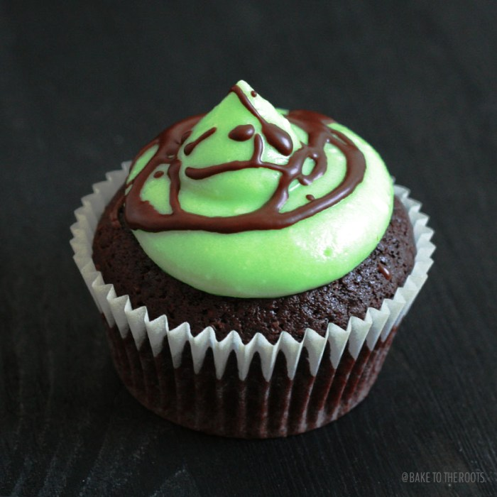Chocolate Mint Cupcakes | Bake to the roots
