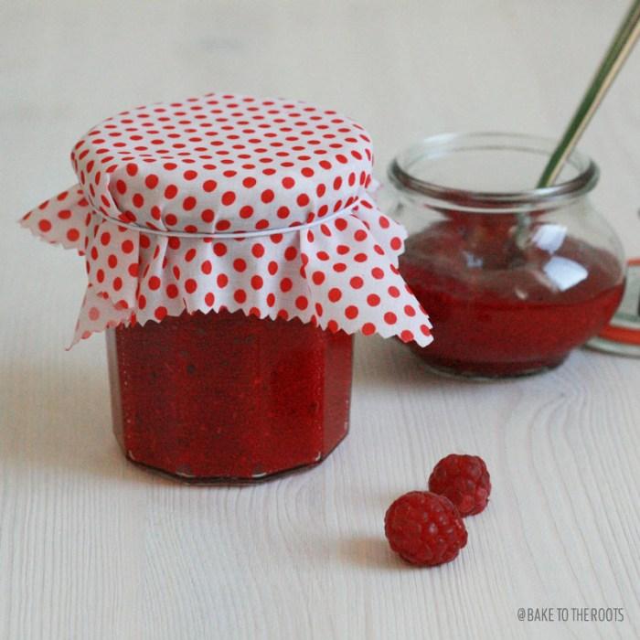 Homemade Raspberry Vanilla Jam | Bake to the roots