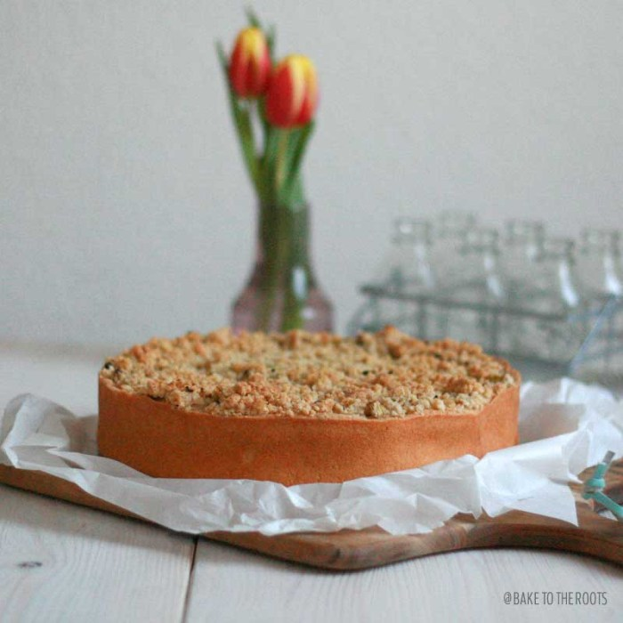 Rhubarb Streusel Cheesecake | Bake to the roots