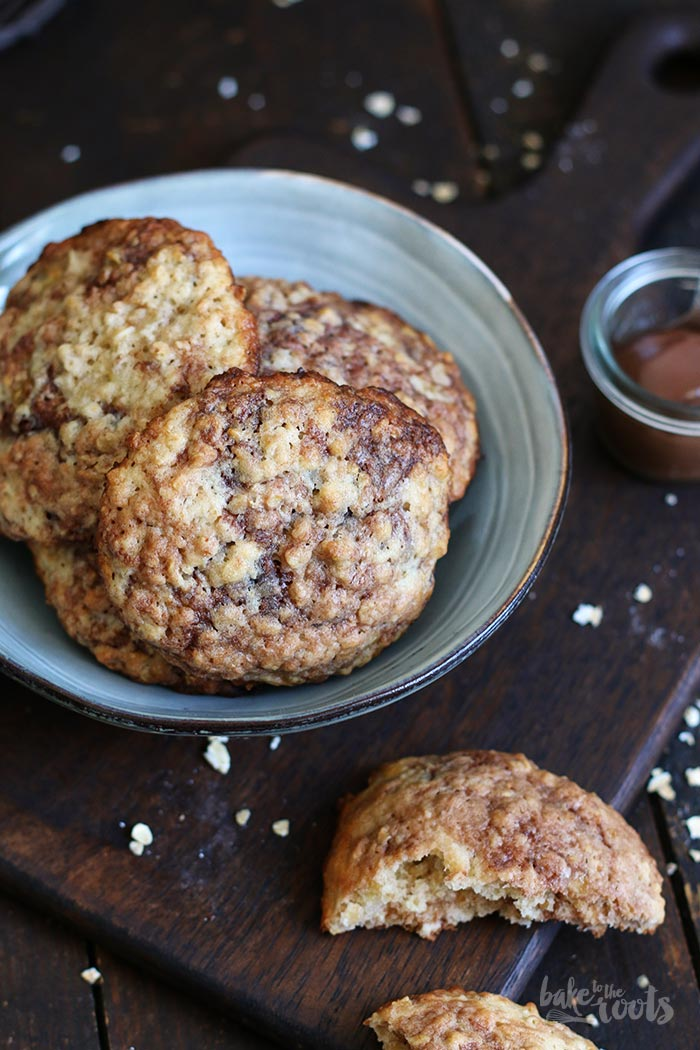 Banana Nutella Cookies | Bake to the roots