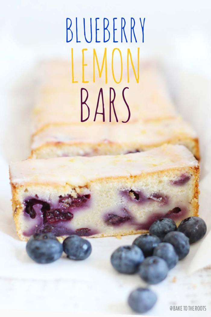 Blueberry Lemon Bars | Bake to the roots