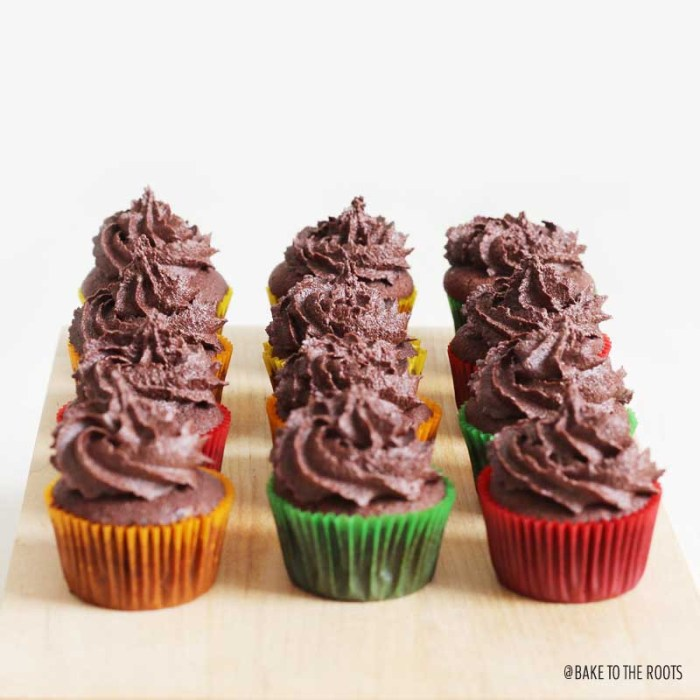 Mini Fudgy Chocolate Cupcakes | Bake to the roots