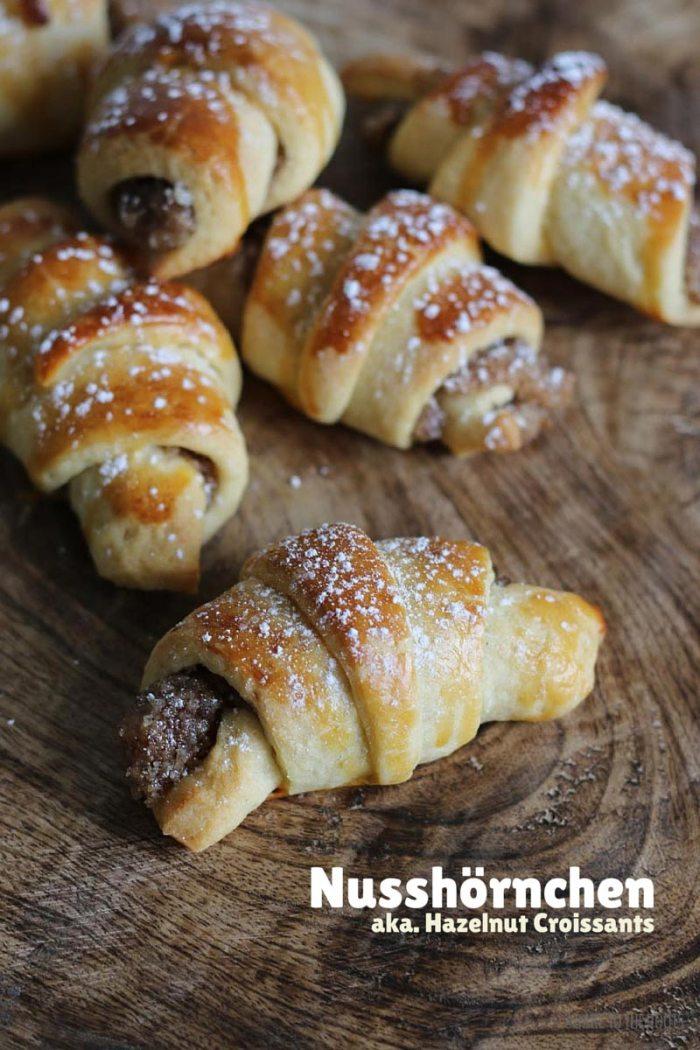 Nusshörnchen aka. Hazelnut Croissants | Bake to the roots