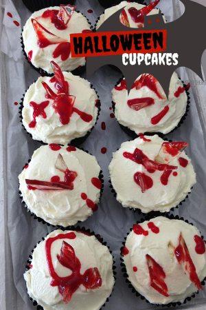 Bloody Mess und Graveyard Cupcakes für Halloween