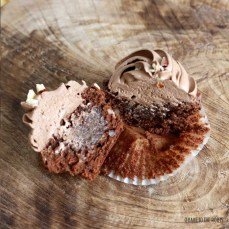 """Chocolate """"Totally Nuts"""" Hazelnut Cupcakes 