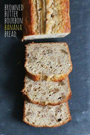 Banana Bread mit Bourbon und gebräunter Butter