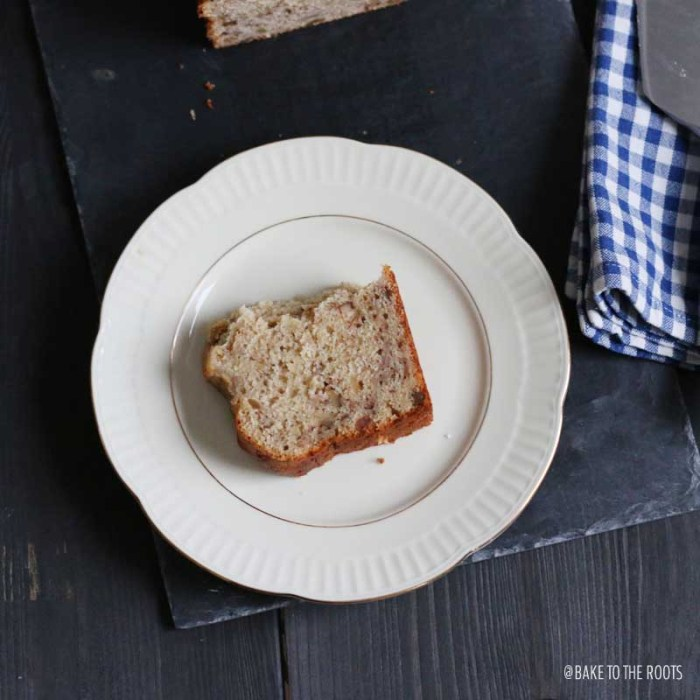 Browned Butter Bourbon Banana Bread | Bake to the roots