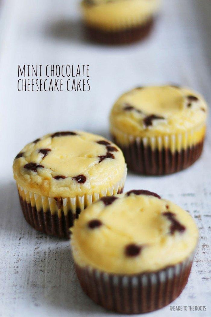 Mini Chocolate Cheesecake Cakes   Bake to the roots