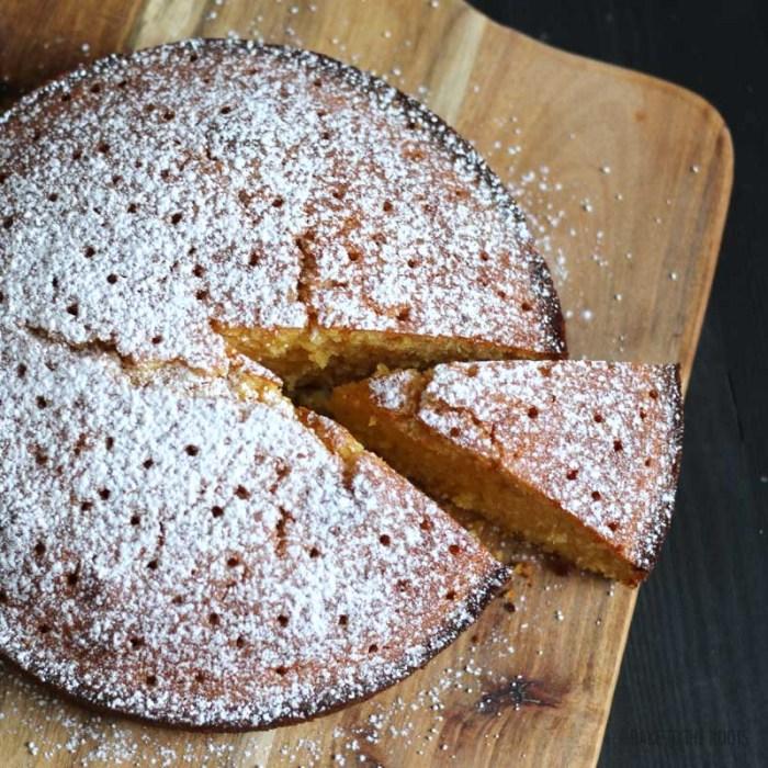 Lemon Lavender Polenta Cake | Bake to the roots