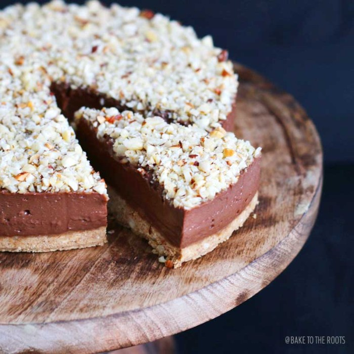 No Bake Nutella Cheesecake | Bake to the roots