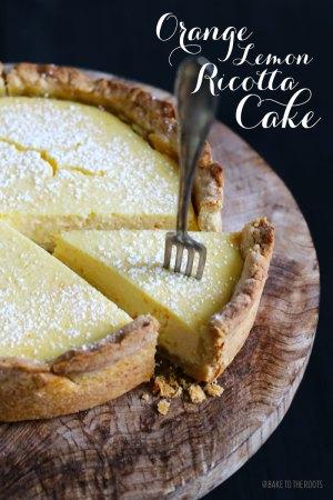 Orange Lemon Ricotta Cake