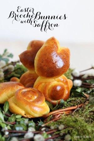 Easter Brioche Bunnies with Saffron