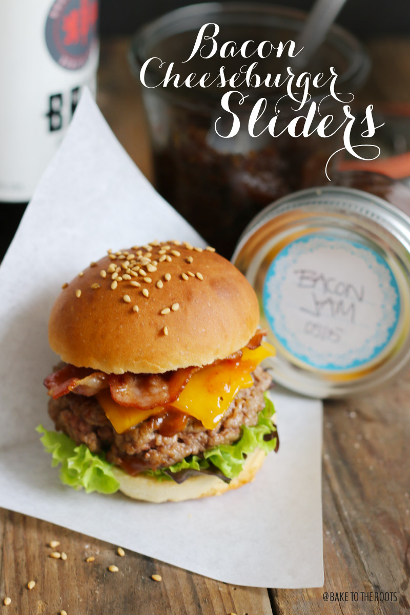 bacon cheeseburger sliders with bacon jam bake to the roots. Black Bedroom Furniture Sets. Home Design Ideas