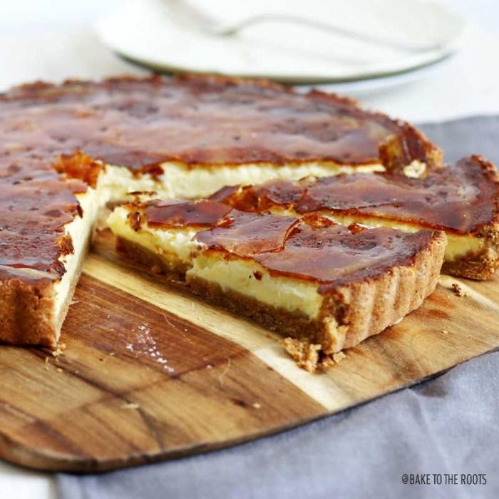 Crème Brûlée Cheesecake | Bake to the roots