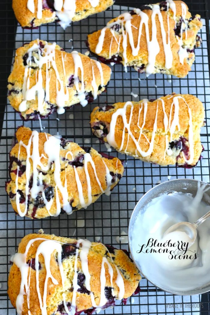 Blueberry Lemon Scones | Bake to the roots