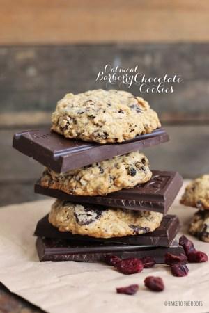 Barberry Oatmeal Chocolate Cookies