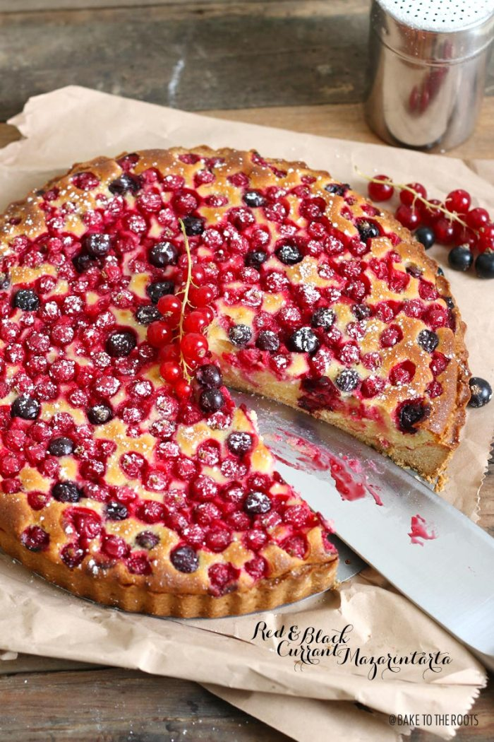 Red & Black Currant Mazarintårta | Bake to the roots
