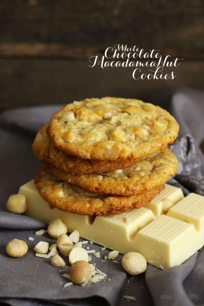 White Chocolate Macadamia Nut Cookies | Bake to the roots