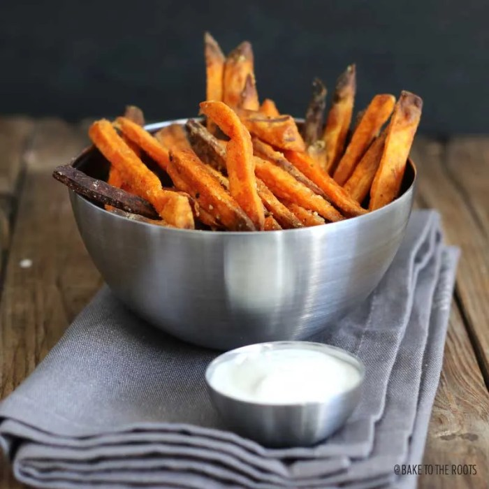 Sweet Potato Fries with Truffle Oil | Bake to the roots