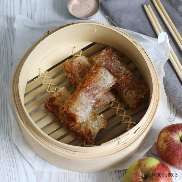 Apple Pie Spring Rolls | Bake to the roots