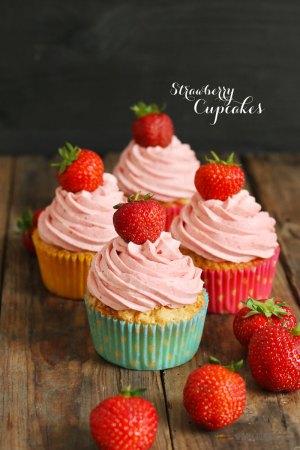 Erdbeer Cupcakes 2.0