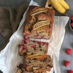Raspberry Chocolate Banana Bread | Bake to the roots