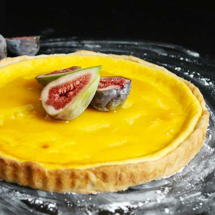 Ricotta Tart with Honey and Figs | Bake to the roots