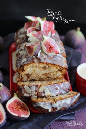 Tea Cake mit Marzipan und Feigen