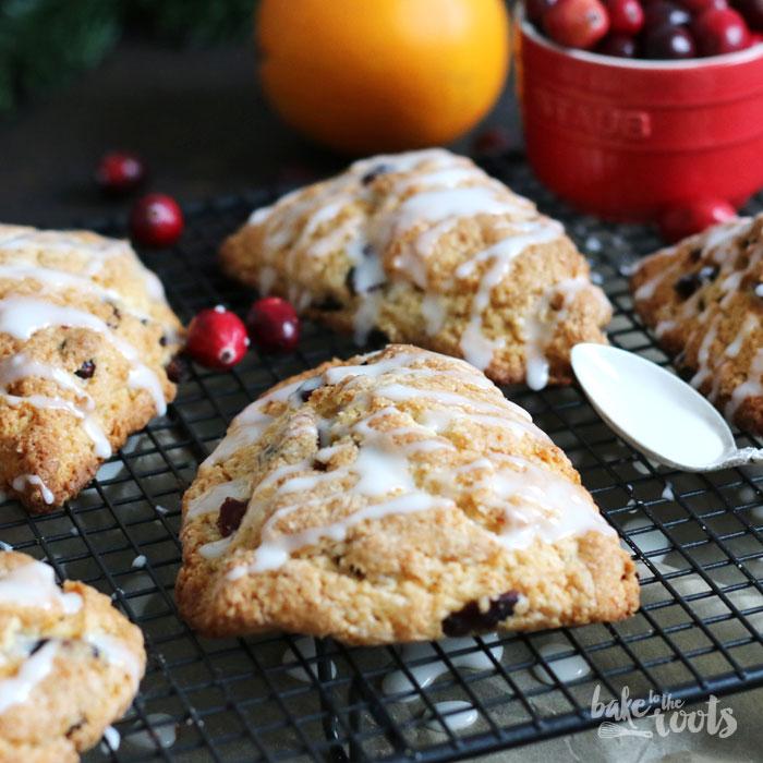 Cranberry Orange Scones | Bake to the roots