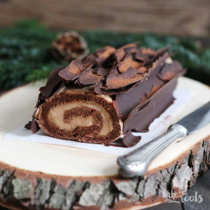 Bûche de Noël – Food Blogger Adventskalender – Bake to the roots