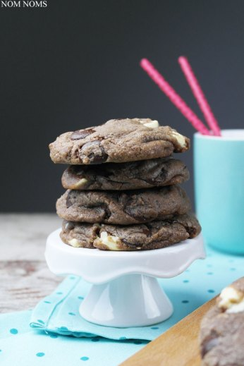 "Soft Nutella Double Chocolate Chip Cookies | Cookie Friday with ""Nom Noms Treats of Life"""