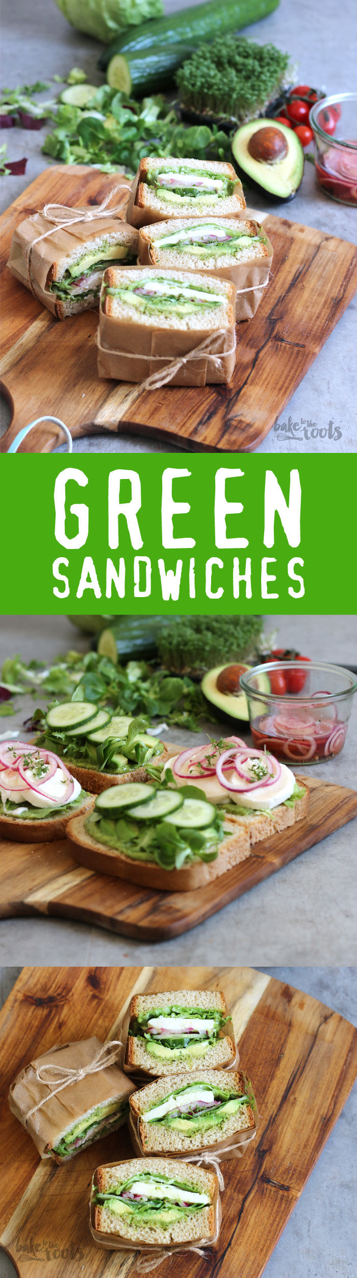 Delicious Green Sandwiches - quick and easy prepared   Bake to the roots